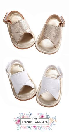Pearl K Little Girls Fringe Closed Toe Flat Sandals White