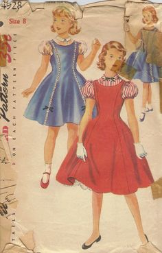 1950s Simplicity Sewing Pattern Girls by AdeleBeeAnnPatterns, $5.50