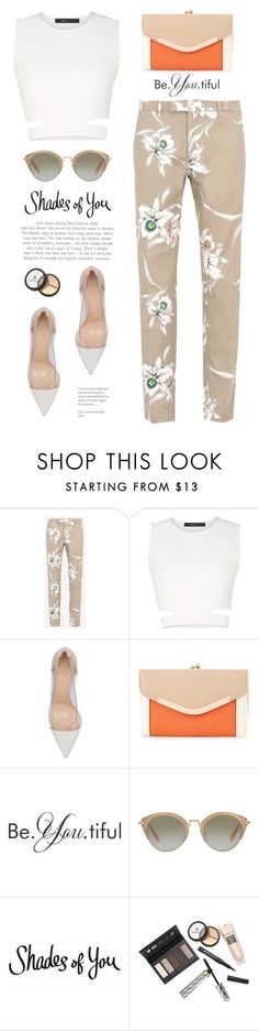 """""""Shades of You: Sunglass Hut Contest Entry"""" by yexyka ❤ liked on Polyvore featuring Valentino, BCBGMAXAZRIA, Gianvito Rossi, New Look, Miu Miu, Borghese and shadesofyou"""