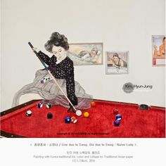 Enjoy Korea with Hui: Unusual Eastern-style Korean painter Kim Hyun Jung...