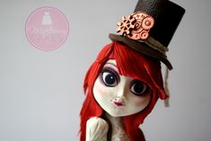 A little insight into how I made this fully edible steampunk doll cake! Chocolate Hair, Modeling Chocolate, Fondant People, Steampunk Dolls, Edible Lace, Petal Dust, High Hair, Cupcake Ideas, Cake Decorations