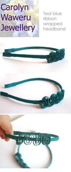 Carolyn Waweru Jewellery Teal ribbon headband