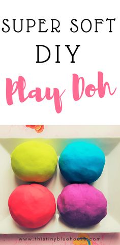 Super easy DIY Non-Toxic Play-Doh recipe with step by step photo instructions. Made with household ingredients and safe for kiddos. Toddler Crafts, Toddler Activities, Activities For Kids, Winter Activities, Baby Crafts, Diy Play Doh, Play Dough, Diy For Kids, Crafts For Kids