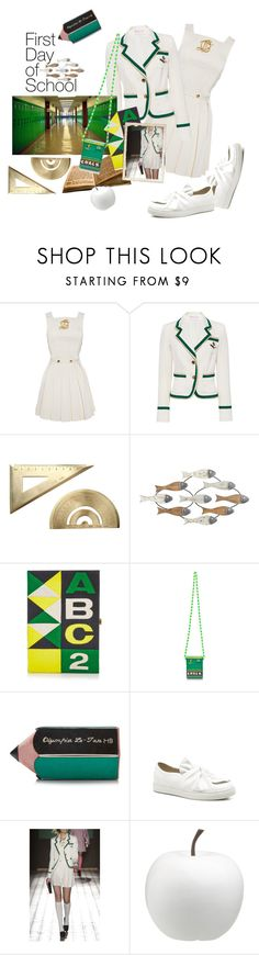 """""""day one"""" by jastil ❤ liked on Polyvore featuring Olympia Le-Tan, CB2 and firstdayofschool"""