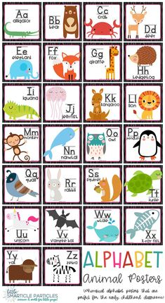 Alphabet Posters Animals Cute Alphabet posters that are perfect for early childhood classrooms! Special Education Activities, Learning Activities, Kids Learning, Teaching Babies, Preschool Classroom, Classroom Themes, Kindergarten, Infant Classroom, Classroom Door
