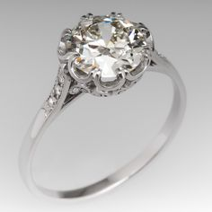 2 Carat Diamond Antique Engagement Ring