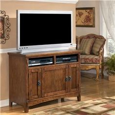 Ashley Furniture Cross Island 42 Inch TV Stand - Wayside Furniture - TV or Computer Unit Akron, Cleveland, Canton, Medina, Youngstown, Ohio