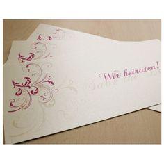 Save the Date Karte - Ornamente - Pink