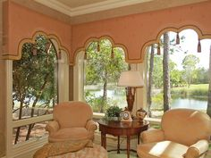 The cornices are a little heavy, but they frame the view nicely, the color is good, & the tassels are an attractive touch.