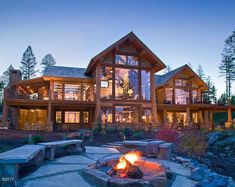 The Salary You'd Need to Afford Each State's Most Expensive House - Log cabin homes - Casas Country, Luxury Cabin, Log Cabin Homes, Log Cabins, Expensive Houses, Dream House Exterior, Winter House, House In The Woods, My Dream Home