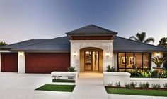 View our range of new luxury display homes in Perth. Stylish design & practical living, our luxury Dale Alcock Homes have something for the whole family. Architecture Classique, Modern Architecture, Australian Architecture, Style At Home, Suburban House, Porche, Villa, Dream House Exterior, Display Homes