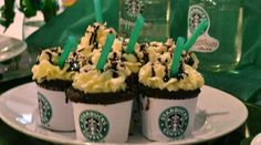 Double Chocolate Chip Frappuccinos In A Cupcake...mmmmm
