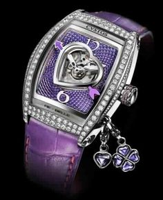 Discover the specifications of CVSTOS Re-Belle Lady Charm watch. Purple Love, All Things Purple, Purple Lilac, Shades Of Purple, Patek Philippe, Devon, Omega, Purple Jewelry, Amethyst Jewelry