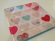 how to decoupage glass plate w/ craft paper and mod podge