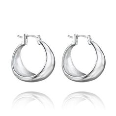 La Lune Sculpted Click-Top Hoop Earrings $28.  https://www.chloeandisabel.com/products/E216S/3?m=rachaelgriffith