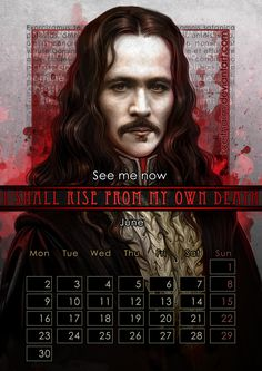 June: Gary Oldman as Count Dracula in Bram Stoker's Dracula. | The Gorgeous 2014 Calendar That Every Nerd Needs In Their Life