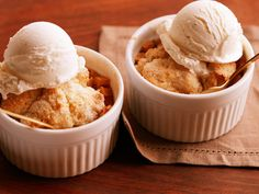 Apple Cobbler for Two : Prepare classic apple cobbler in 6-ounce ramekins and you won't be tempted by leftovers for days and days. It takes only one Honeycrisp apple and a single teaspoon of all-purpose flour!