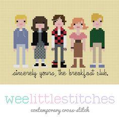 The Breakfast Club Cross-Stitch Pattern