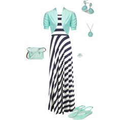 """""""Maxi with mint"""" by isongirls on Polyvore"""