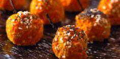 Croquettes de carottes au cumin, sésame et pavot