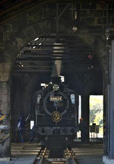 Old locomotive SL Hitoyoshi, Kumamoto, Japan SL人吉号