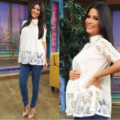 Another pregnancy OOTD by Ana Patricia :) Cute Maternity Style, Stylish Maternity, Maternity Tops, Maternity Wear, Maternity Dresses, Maternity Fashion, Maternity Work Clothes, Pregnancy Wardrobe, Pregnancy Outfits