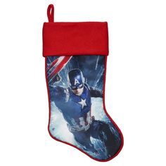 Marvel's Captain America Christmas Stocking, Blue