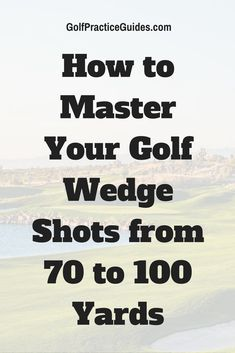 How to master the short wedge shot in golf from 70 to 100 yards that helps you save par or get close for birdie. Click to read our golf tips and drills for this aspect of your short game.