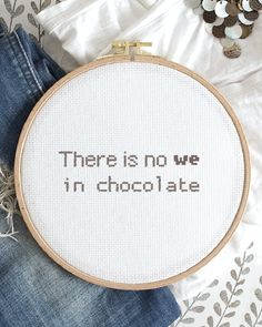 Do you also buy your own chocolate that no one else is allowed to taste? Here is your perfect embroidery. 🍫 ❗LAST CHANCE for 20% of your own designs. Use code WED2021 in the checkout. Tag your photos with #folklorecompany and #worldembroideryday2021 for a chance to win a gift card worth 500 SEK! The competition ends on 1/8. ✨ Embroidery For Beginners, Finding Peace, Cross Stitch Designs, Diy Kits, Tool Design, Folklore, Design Crafts, Wall Hangings, Cross Stitch Embroidery