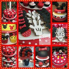 Mesa Dulce de Mickey y Minnie Mouse pedidos@tequierodecir.com www.tequierodecir.com