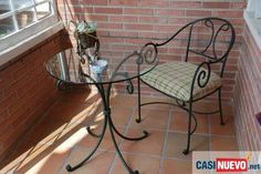 mesas altas de hierro forjado - Buscar con Google: Wrought Iron Console Table, Wrought Iron Chairs, Wrought Iron Decor, Iron Table, Interior Design Living Room, Interior Decorating, Coffee Table To Dining Table, Bed Frame Design, Iron Furniture