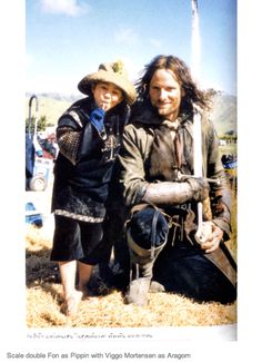 Aragorn and a Hobbit scale double