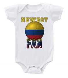NEW Cute Soccer Baby Bodysuits Onesie Colombia Team Football One Piece