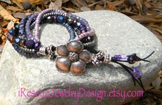 Eight strands of multicolored glass and by iRescueJewelryDesign, $35.00