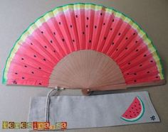 Spanish Fan in USA - Teresina, s. Painted Fan, Hand Painted, Fun Crafts, Arts And Crafts, Hand Held Fan, Hand Fans, Fan Decoration, Dance Accessories, Wedding Fans