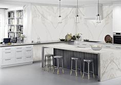brindarle a tu hogar más tranquilidad Calacatta Gold, Stone Slab, Kitchen Island, Porcelain, Design, Home Decor, Satin, Indoor Air Quality, Zen Style