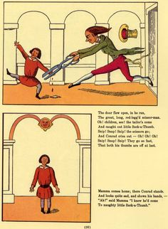 Heinrich Hoffman's 1845 bedtime classic 'Struwwelpeter'. I *must* find this book for my collection. XD