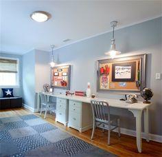Google Image Result for  http://st.houzz.com/fimages/539943_0663-w394-h394-b0-p0--modern-kids.jpg |  basement | Pinterest | Kids corner, Wall desk and Lego ...