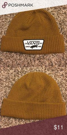 Vans Beanie! Dark mustard color! Unisex! Classic logo design! *Great condition! *MAKE ME AN Offer! **BUNDLE FOR AN EVEN BETTER DEAL! Vans Accessories Hats
