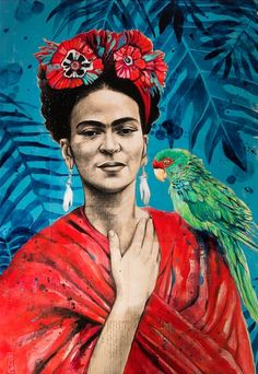 Frida au Perroquet by Stephanie Ledoux