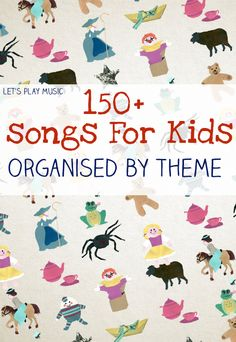 150 free kids songs organised by preschool theme, with lots of activity suggestions for how to use them too! Free Kids Songs, Songs For Toddlers, Music Activities For Kids, Children Songs, Music Therapy Activities, Songs For Babies, Songs For Preschoolers, Preschool Movement Activities, Fun Songs For Kids