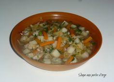 Le froid est de retour .... Pour le dîner ,préparons nous une petite soupe avec de bonnes légumes du jardin !!!!! Recette extraite du livre WW * Secret de la minceur de 2003 * Total de la recette 9 SP Pour 4 pers;2SP Dans le cas d'une journée sans compter...