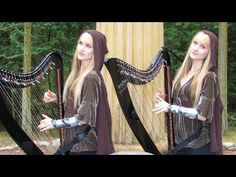 ▶ LORD OF THE RINGS Medley (Harp Twins electric) Camille and Kennerly - YouTube || I want this played at my wedding. Sorrynotsorryyyy