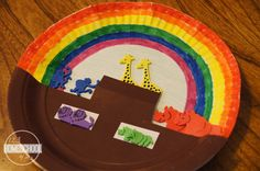 Noahs Ark Craft Noah's Ark paper craft for Sunday School Lessons Sunday School Crafts For Kids, Sunday School Lessons, Bible For Kids, Art For Kids, Rainbow Crafts Preschool, Ocean Crafts, Preschool Ideas, Noahs Ark Craft, Hero Crafts