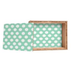 Allyson Johnson Mintiest Polka Dots Jewelry Box | DENY Designs Home Accessories  #denydesigns #denyholiday #jewelrybox #bogo