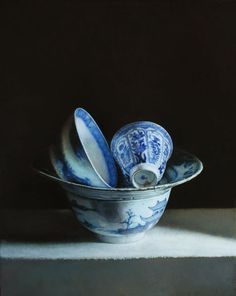 blue - ceramic - still life - painting - Erkin Kuvandikov Painting Still Life, Still Life Art, Paintings I Love, Oil Paintings, Still Life Photography, Fine Art Photography, Classical Realism, Painter Artist, Blue And White China