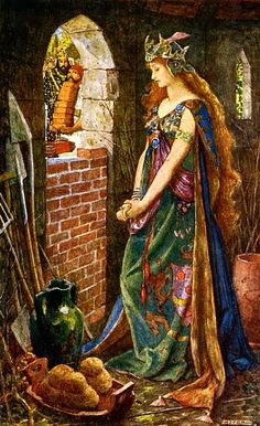 The Princess Imprisoned in the Summerhouse from Andrew Lang's The Green Fairy Book illust. by H.J. Ford -