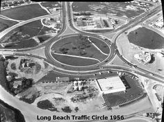 Long Beach Traffic Circle. PCH, Lakewood Blvd and Los Coyotes Diagonal.