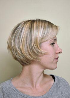 Ithaca Hair stylist at Karma Salon in Ithaca New York, French haircutting, short hair cut blonde hair