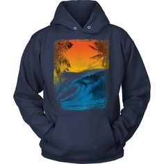 Get into holiday mode with your Summer Surf - Hoodie Designed and printed in the…